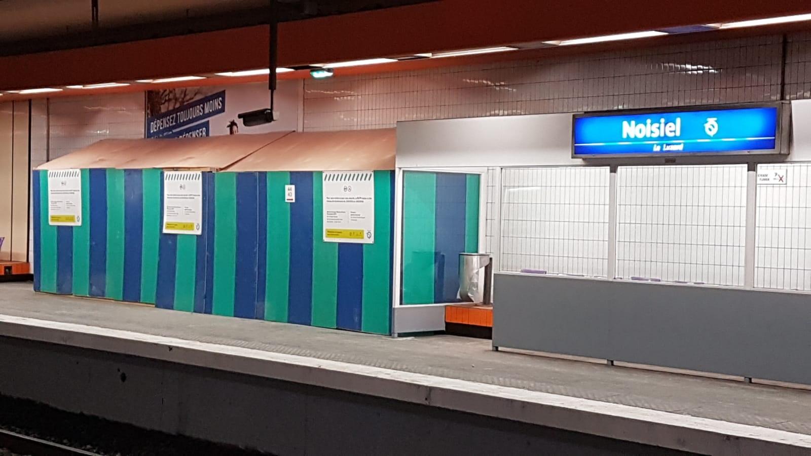 Imperméabilisation d'une gare de RER A