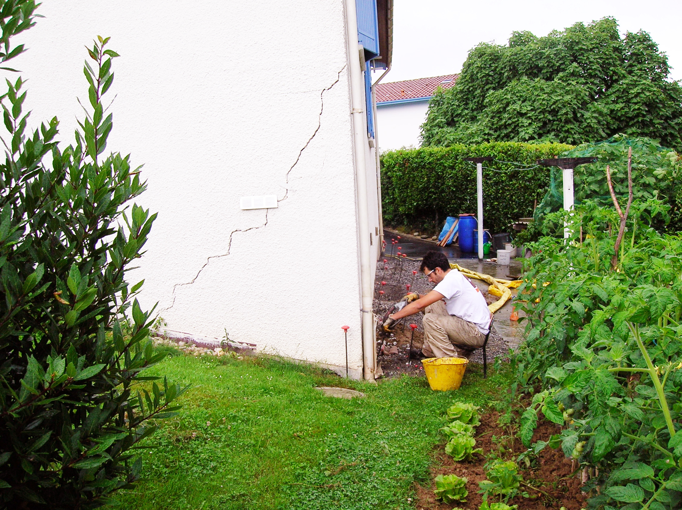 photo intervention uretek maison secheresse argile
