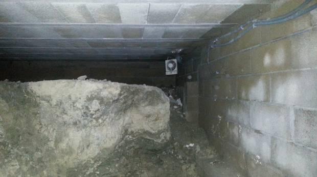 Intervention maison avec piscine uretek for Fondation vide sanitaire