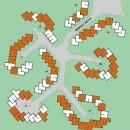 Plan du lotissement traité par URETEK