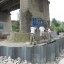 Intervention URETEK® au pont de la rivière de Cassano d'Adda