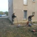 Consolidation des fondation du bâtiment de la gendarmerie