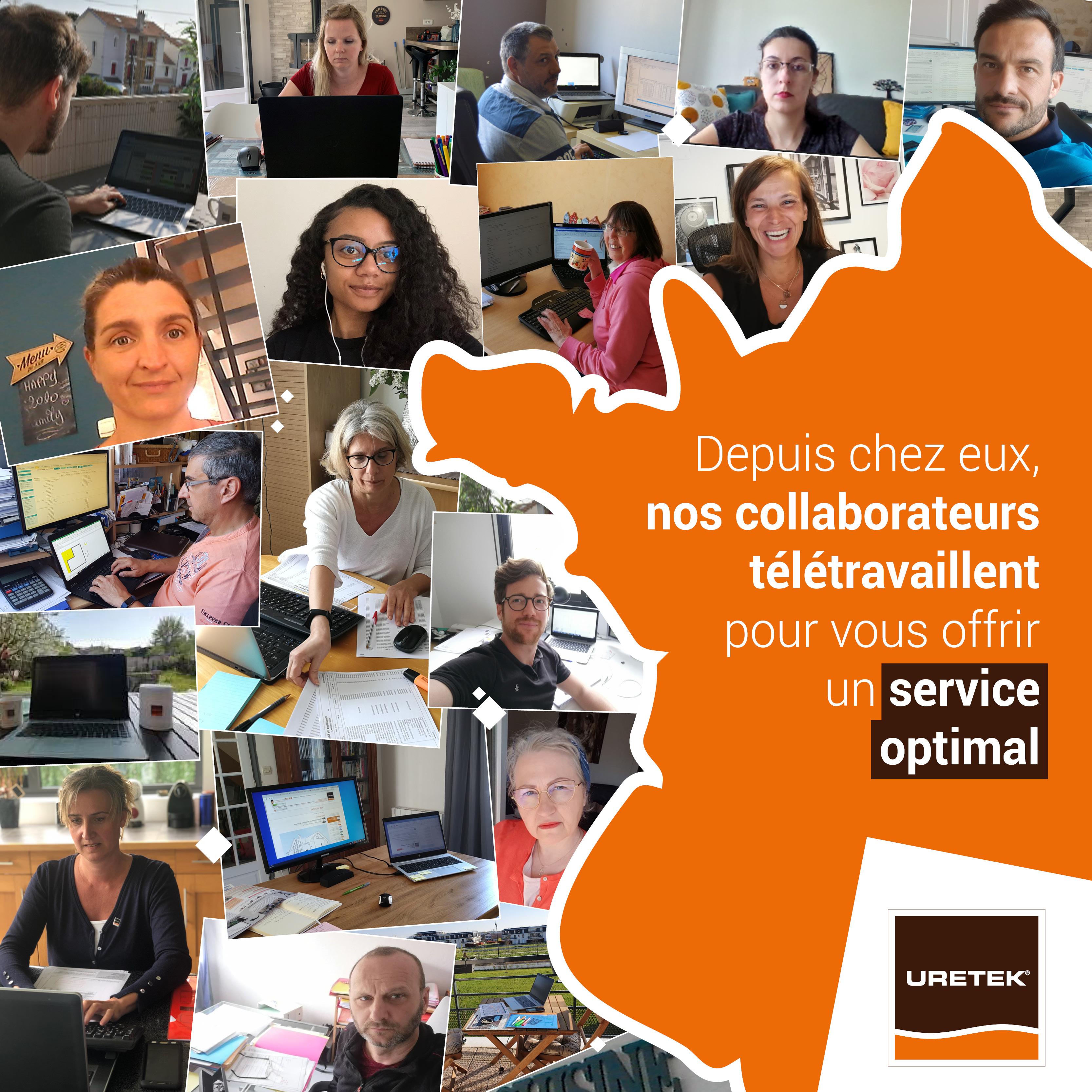 Tous les collaborateurs URETEK télétravaillent depuis chez eux, les jours pour lesquels ils ne sont pas présents sur leur lieu de travail