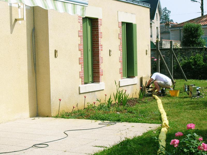 photo uretek intervention maison individuelle sécheresse
