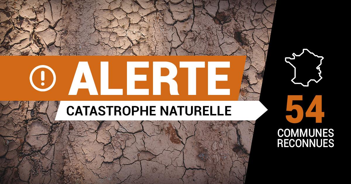 catastrophe naturelle sécheresse 23 décembre 2020